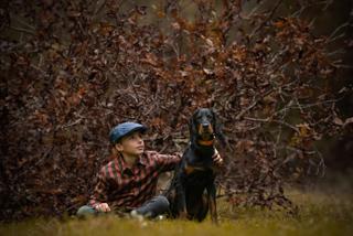Photographie enfant et chien