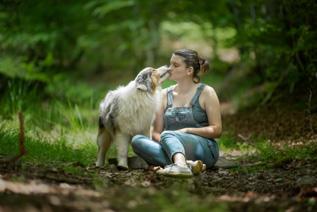 Photographe chien et son maître à Bayonne