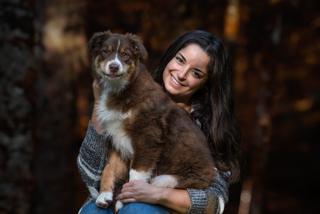séance photo chien et son maître